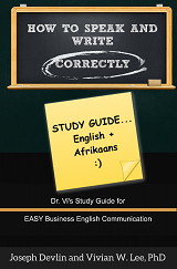how to speak and write correctly study guide english afrikaans