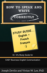 how to speak and write correctly study guide english french