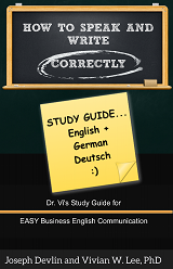 how to speak and write correctly study guide english german