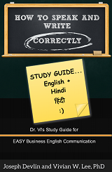 how to speak and write correctly study guide english hindi