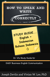 how to speak and write correctly study guide english indonesian